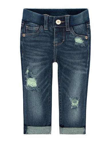 LeviS Rib Waistband Skinny Jeans-BLUE-24 Months