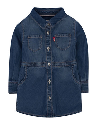 LeviS Fit-and-Flare Shirt Dress-BLUE-24 Months