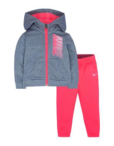 Nike Leggings and Hoodie Set-PINK-18 Months
