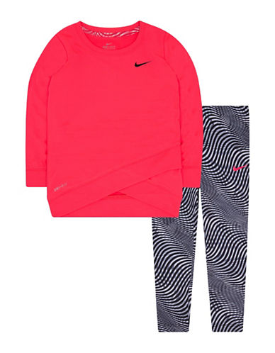 Nike Tunic and Leggings Set-BLACK-12 Months