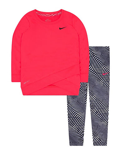 Nike Two-Piece Dri-Fit Tunic and Leggings Set-PINK/BLACK-2T 89269674_PINK/BLACK_2T