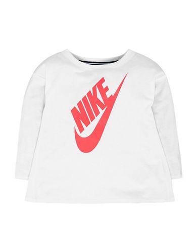 Nike Logo Round neck Tee-WHITE-4