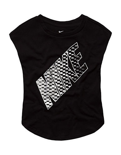 Nike Metallic Modern Tee-BLACK-6X