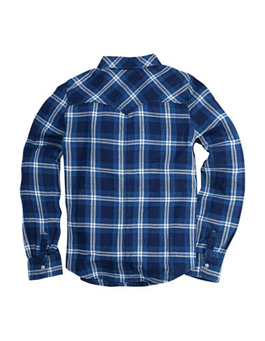LeviS The Western Plaid Shirt-BLUE-Large