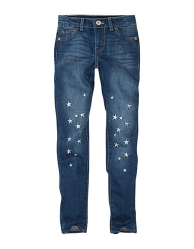 LeviS Embroidered Stars Denim-BLUE-16