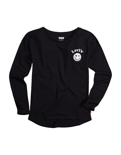LeviS Modern Heritage Long-Sleeve Cotton Tee-BLACK-Large