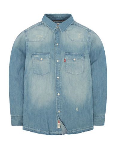 LeviS Barstow Western Shirt-BLUE-24 Months
