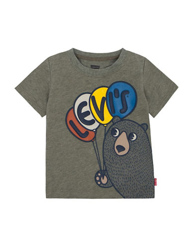 LeviS Graphic Cotton Tee-GREEN-12 Months