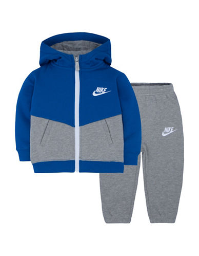 Nike Two-Piece Track Suit Set-BLUE-18 Months