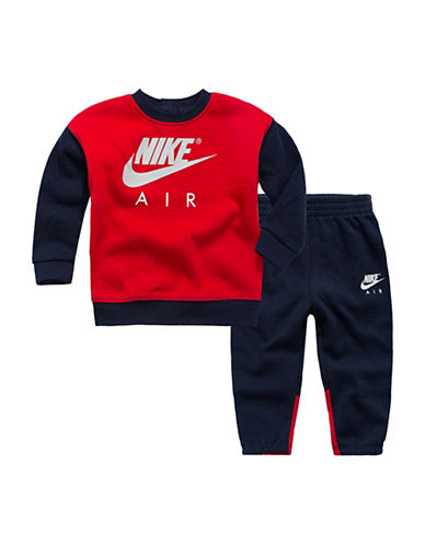 Nike Fleece Pant and Top Set-RED-24 Months