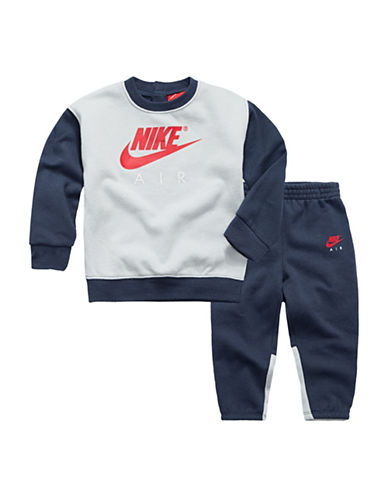 Nike Fleece Pant and Top Set-BLUE-18 Months