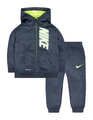 Nike Two-Piece Cross-Dyed Therma-Fit Hoodie and Pants Set-GREY-2T
