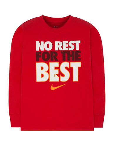 Nike Toddlers Cotton Tee-RED-2T