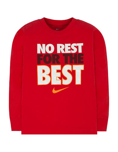 Nike No Rest for the Best T-Shirt-RED-5
