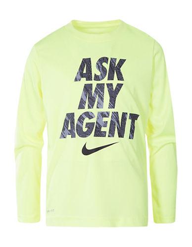 Nike Ask My Agent Tee-YELLOW-4