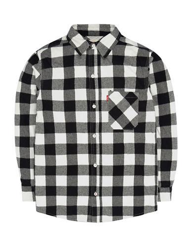 LeviS Plaid One-Pocket Shirt-BLACK-6