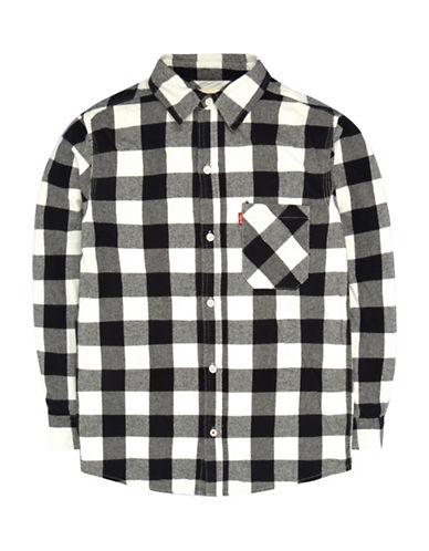LeviS Plaid One-Pocket Shirt-BLACK-Small
