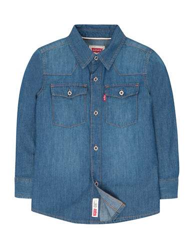 LeviS Barstow Western Cotton Sport Shirt-STONE-7