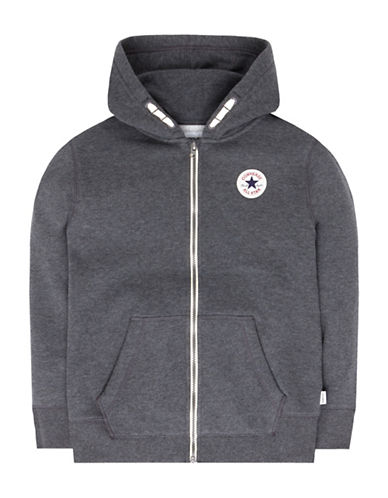 Converse Full-Zip Core Chuck Hoodie-GREY-7