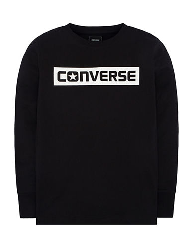 Converse Wordmark Cotton Tee-BLACK-6