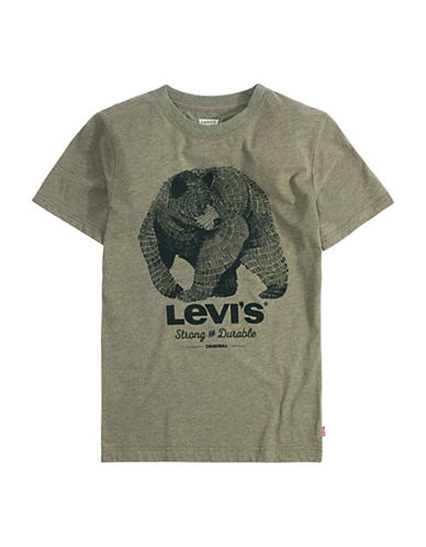 LeviS Graphic Printed Tee-GREY-7