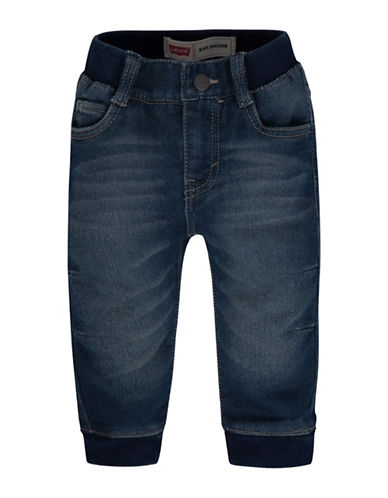 LeviS Knit Jogger Pants-BLUE-12 Months