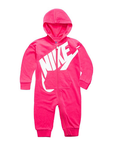 Nike Full Zip Coverall-PINK-9-12 Months