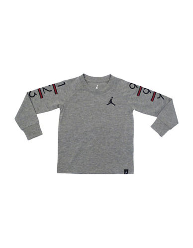 Jordan Cotton Printed Tee-GREY-Small