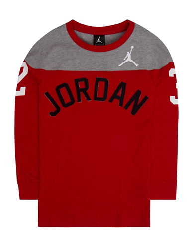 Jordan Jordon 23 Arch Logo Jumpy Tee-RED-Large