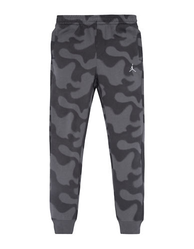 Jordan Printed Fleece Joggers-BLACK-Medium