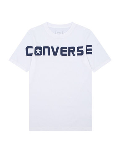 Converse Wordmark Cotton T-Shirt-WHITE-X-Large