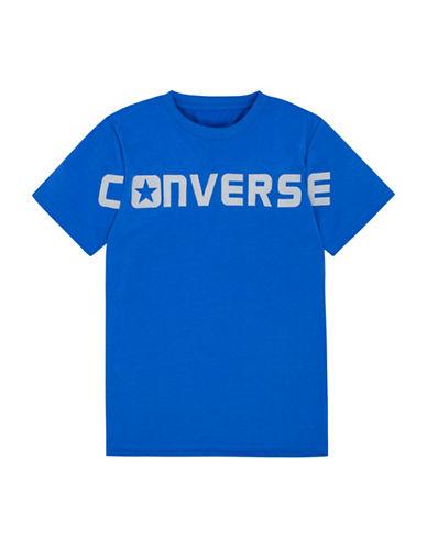 Converse Wordmark Cotton T-Shirt-BLUE-X-Large