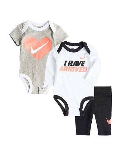 Nike Three-Piece Bodysuits and Leggings Set-BLACK-3-6 Months