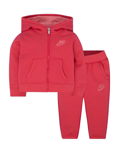 Nike Two-Piece Hoodie and Jogger Set-RED-18 Months