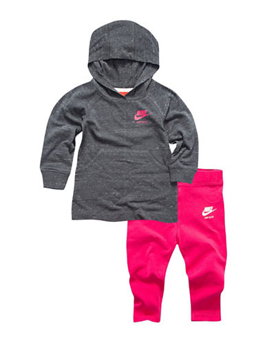 Nike Two-Piece Gym Vintage Jacket and Leggings Set-PINK-24 Months