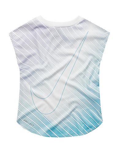 Nike Swoosh Strike Dri-Fit Modern Tee-WHITE-5