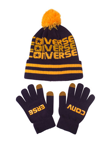 Converse Fader Beanie and Gloves Set-PURPLE-4-7