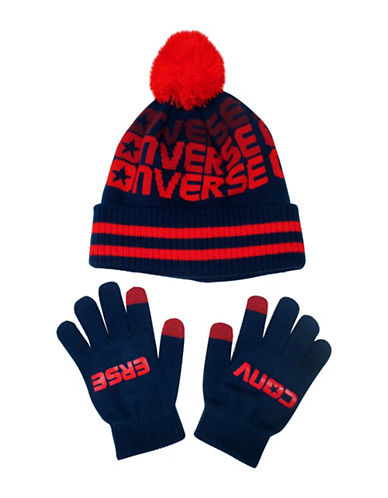Converse Fader Beanie and Gloves Set-NAVY-4-6