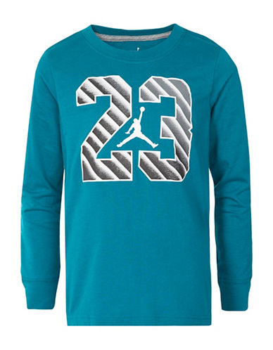 Jordan 23 Step Long-Sleeve Cotton Tee-BLUE-X-Large