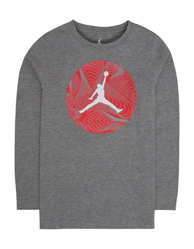 Jordan Jumpman Long-Sleeve Cotton Tee-GREY-Large
