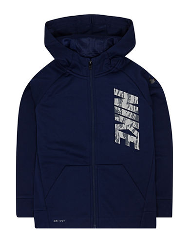 Nike Therma-Fit Circuit Fleece Full-Zip Hoodie-BLUE-2T