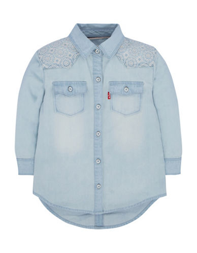 LeviS 511 Coolsmart Denim Shirt-BLUE-24 Months