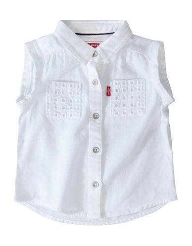 LeviS Textured Sleeveless Top-WHITE-12 Months