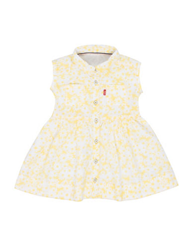 LeviS Floral Patterned Dress-YELLOW-24 Months