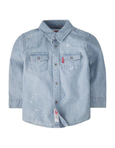 LeviS Barstow Western Shirt-BLUE-12 Months