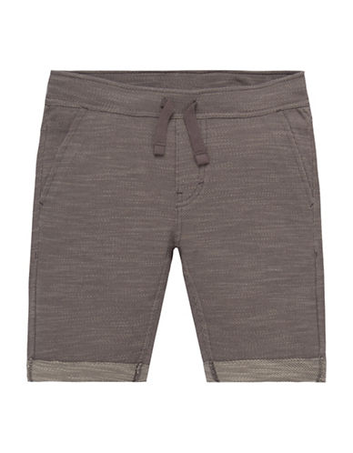 LeviS Knit Drawstring Shorts-GREY-5