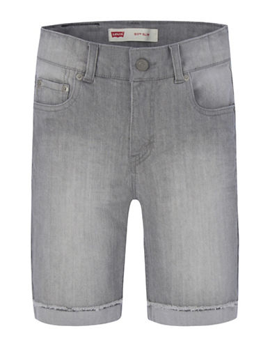 LeviS 511 Cuffed Cut-Off Shorts-GREY-12