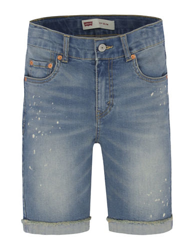 LeviS 511 Cuffed Cut-Off Shorts-BLUE-18