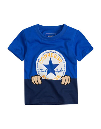 Converse Cotton Short Sleeve Tee-BLUE-12 Months