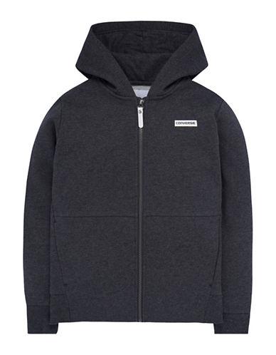 Converse Heavyweight Hybrid Fleece Jacket-GREY-4